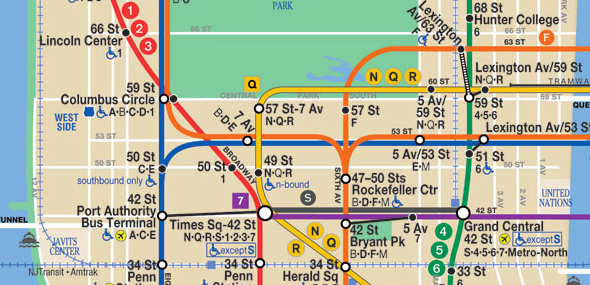Columbus Circle Subway Map