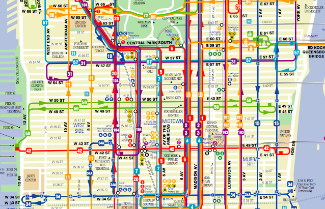 Manhattan Bus Map Shiva Gallery | Public Transit Details Manhattan Bus Map